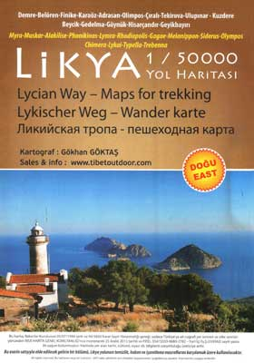 lycian way map east