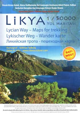 lycian way map west
